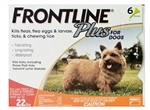 Frontline Plus for Dogs up to 22 lbs, Orange 6 Tubes