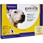 EFFITIX Topical Solution For Dogs Up To 22.9 lbs, 3 Month Supply