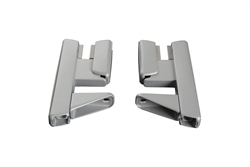 Wallfix Privacy Panel Bracket - Front Mount - Aluminum - 1 Pair