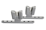 Wallfix Privacy Panel Bracket - Mid Mount - Aluminum - 1 Pair