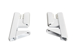 Wallfix Privacy Panel Bracket - Front Mount - White - 1 Pair