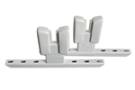Wallfix Privacy Panel Bracket - Mid Mount - White - 1 Pair