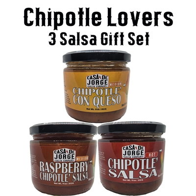 Chipotle Lovers 3 Pack Gift Set by Casa De Jorge Salsa Company