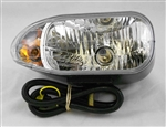 This is a new OEM Meyer Snow Plow Passenger Side Light 07224. The Passenger Side Light includes the Halogen Bulb H9003 and the Bulb-Amber (3157 NA). This Side Light fits the Snow Plow Light Carton 07234.