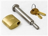 The Meyer Receiver Hitch Spreader Lock 07695 prevents your valuable Meyer Spreader from theft with the stainless steel lock.