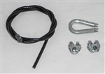 "This is a new OEM Fisher Cable Kit 27169K. The kit includes the Cable, 2 1/8"" Wire Rope Clips and a Thimble."