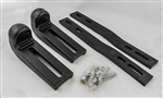This is a new OEM Fisher Curb Guard Shoe Kit 44405 for V Blade Plows and Xtreme V Plows. This Kit includes 2 Casting Curb Guards, 2 Bolting Bars, 4 Carriage Bolts, 4 Spacers and 4 Hex Locknuts.