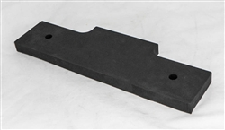 This is a new OEM Fisher Rubber Flap 63508. This Rubber Flap is used in the center of the V-Plow to fill the gap between the Cutting Edges.