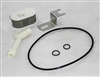 This is a new OEM Fisher Inlet/Filter Kit 66763-1. This is a Inlet Fitting/Filter Kit for a Hydraulic Pump that includes an Oval Suction Filter, Inlet Filter, O-Ring 013, O-Ring 2-250, O-Ring 014, and a Retainer Clip.