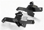 The Fisher Minute Mount 2 Plow Mount Kit 7618 includes the driver-side push plate, the passenger-side push plate, 2 backing plates, 2 hex flange cap screws with handles and the bolt bag.