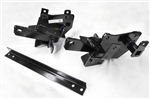 The Fisher Minute Mount 2 Plow Mount Kit 7186-1 includes the driver-side push plate, the passenger-side push plate, cross bar, headlamp extension brackets and the bolt bag.