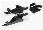 The Fisher Minute Mount 2 Truck Side Plow Mount Kit 7192 includes the driver-side mount, the passenger-side mount, driver-side rear bracket, passenger-side rear bracket, 4 Hex Cap Screws with handles and the bolt bag.