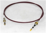 "This is a new OEM Fisher Cable A4490. This is a 90"" Single Lever Control Cable. This Cable runs from the control to the valve body under the hood for the belt drvie plow pumps."