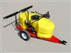 AG South Gold Scorpion Series Tow Behind 15 Gallon Sprayer SC15-TRLNS with 2 Nozzle Boom & Trailer.