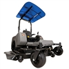 "Femco Tuff Top Blue 44"" x 44"" SCR44B Canopy & Sunshade for Zero Turn Lawn Mowers."