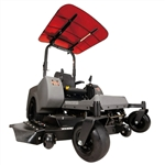 "Femco Tuff Top Red 44"" x 44"" SCR44R Canopy & Sunshade for Zero Turn Lawn Mowers."