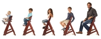 "Keekaroo Height Rightâ""¢Mahogany High Chair with Tray (6 months up to 250 lb)"