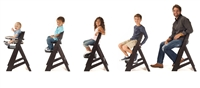 "Keekaroo Height Rightâ""¢Espresso High Chair with Tray (6 months up to 250 lb)"