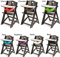 "Keekaroo Height Rightâ""¢ Espresso High Chair with Infant Insert & Tray (Kid's Chair + Infant Insert + Tray with Plastic Tray Cover) 6 months up to 250 lb"