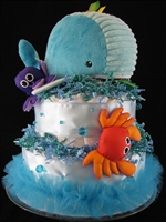 Whale of a Tale Diaper Cake (SOLD)