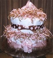 Little Monkey's Ballet Slipper Diaper Cake (SOLD)