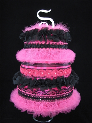 "Presenting ""La Petite Cancan"" at the Moulin Rouge Diaper Cake -Custom Cake SOLD"