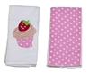Cupcake Double Burp Cloth Gift Set