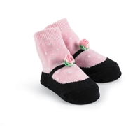Rosette Black Mary Jane Sock