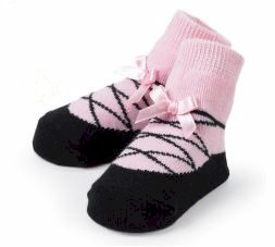 Pink Ballet Slipper Sock