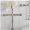 Wall Cross Silver Linen