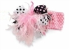 Black And Pink Ostrich Party Headband