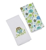 Bennett Owl Double Burp Cloth Gift Set