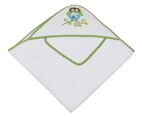 Bennett Owl Infant Hooded Towel Set