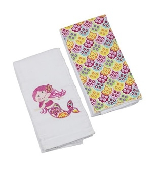 Sandy the Mermaid Double Burp Cloth Gift Set
