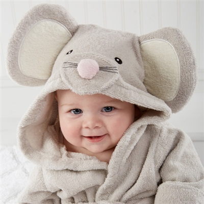 Mouse Hooded Spa Robe