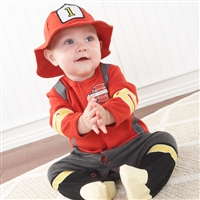 Baby Firefighter Two-Piece Layette Set
