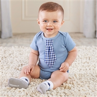 Little Man Bodysuit and Sock Set for Baby