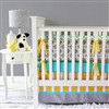 Bright Baby Gray Baby Bedding 2Pc Set (Sheet & Skirt)