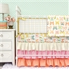 Buttercup in Bright Pastels Baby Bedding 2Pc Set (Sheet & Skirt)