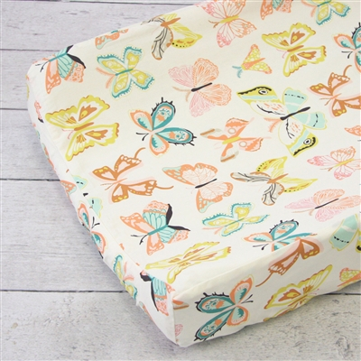 Buttercup in Bright Pastels Baby Bedding Changing Pad