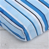Baxton's Blue and Gray Blue Pinstripe Baby Bedding Sheet