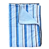 Baxton's Blue and Gray Blue Pinstripe Baby Bedding Blanket