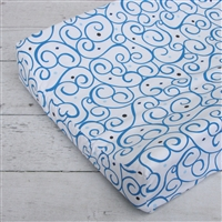 Baxton's Blue and Gray Dark Blue Swirl Baby Bedding Changing Pad