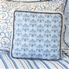 Baxton's Blue and Gray Luxe Blue Square Baby Bedding Pillow