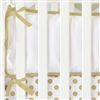 Coral and Gold Dot Ruffle Baby Bedding Bumper