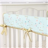 Coral & Gold Sparkle Baby Bedding Crib Rail