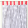 Coral & Gray Baby Bedding Curtains
