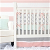 Coral & Mint Arrow Baby Bedding Bumper