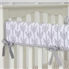 Coral & Mint Arrow Baby Bedding Crib Rail