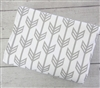 Coral & Mint Arrow Gray Arrow Baby Bedding Blanket